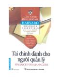 Cẩm nang Kinh doanh Harvard (Harvard business essentials): Tài chính dành cho người quản lý