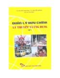Ebook Quản lý bưu chính: Lý thuyết và ứng dụng (Tập 1) - NXB Bưu Điện
