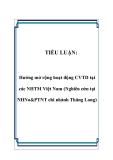 TIỂU LUẬN:  Hướng mở rộng hoạt động CVTD tại các NHTM Việt Nam (Nghiên cứu tại NHNo&PTNT chi nhánh Thăng Long)