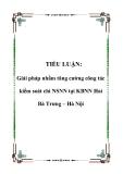 TIỂU LUẬN: Giải pháp nhằm tăng cường công tác kiểm soát chi NSNN tại KBNN Hai Bà Trưng – Hà Nội