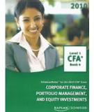 Corpoarate Finance Portfolio Managament and Equity Investments