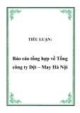 TIỂU LUẬN:  Báo cáo tổng hợp về Tổng công ty Dệt – May Hà Nội
