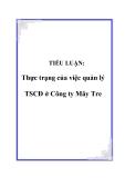TIỂU LUẬN:  Thực trạng của việc quản lý TSCĐ ở Công ty Mây Tre