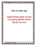 Báo cáo thực tập ngành Hành chính văn thư Văn phòng HĐND-UBND Huyện Sóc Sơn