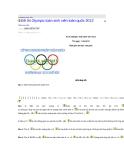Đề thi Olympic toán sinh viên toàn quốc 2012 - Trường đại học Phú Yên