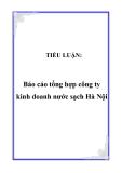 TIỂU LUẬN:  Báo cáo tổng hợp công ty kinh doanh nước sạch Hà Nội