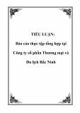 TIỂU LUẬN: Báo cáo thực tập tổng hợp tại Công ty cổ phần Thương mại và Du lịch Bắc Ninh