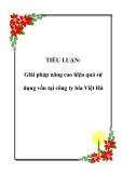 TIỂU LUẬN: Giải pháp nâng cao hiệu quả sử dụng vốn tại công ty bia Việt Hà
