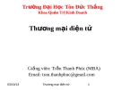 Bài giảng Thương mại điện tử - Trần Thanh Phúc (MBA)