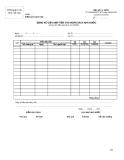 Bảng kê giấy nộp tiền vào ngân sách nhà nước