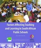 Factors Affecting Teaching and Learning in South African Public Schools