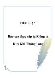 TIỂU LUẬN:  Báo cáo thực tập tại Công ty Kim Khí Thăng Long