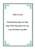 TIỂU LUẬN:  Tình hình hoạt động của Ngân hàng TMCP Hàng Hải Việt Nam và tại chi nhánh Long Biên