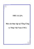 TIỂU LUẬN:  Báo cáo thực tập tại Tổng Công ty Thép Việt Nam (VSC)