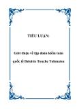 TIỂU LUẬN:  Giới thiệu về tập đoàn kiểm toán quốc tế Deloitte Touche Tohmatsu