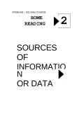HOME READING 2 SOURCES  OF INFORMATION  OR DATA