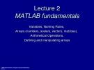Lecture 2MATLAB fundamentals