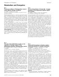 Báo cáo khoa học: Metabolism and Energetics