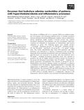 Báo cáo khoa học: Enzymes that hydrolyze adenine nucleotides of patients with hypercholesterolemia and inflammatory processes