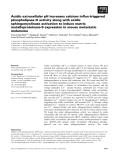 Báo cáo khoa học: Acidic extracellular pH increases calcium influx-triggered phospholipase D activity along with acidic sphingomyelinase activation to induce matrix metalloproteinase-9 expression in mouse metastatic melanoma
