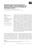 Báo cáo khoa học: Mechanistic aspects and redox properties of hyperthermophilic L-proline dehydrogenase from Pyrococcus furiosus related to dimethylglycine dehydrogenase⁄oxidase