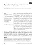 Báo cáo khoa học: Electrical properties of plasma membrane modulate subcellular distribution of K-Ras