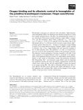 Báo cáo khoa học: Oxygen binding and its allosteric control in hemoglobin of the primitive branchiopod crustacean Triops cancriformis