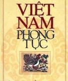 Ebook Việt Nam phong tục - Phan Kế Bính