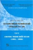 Báo cáo tổng kết chương trình điều tra nghiên cứu biển cấp nhà nước 1997 -2000 (tập 4)