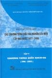 Báo cáo tổng kết chương trình điều tra nghiên cứu biển cấp nhà nước 1997 -2000 (tập 5)