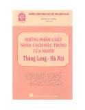 Chương trình khoa học cấp nhà nước - Phẩm chất nhân cách đặc trưng của người Thăng Long - Hà Nội