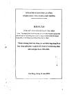 Báo cáo tổng kết toàn diện kết quả thực hiện dự án: Ứng dụng kỹ thuật tiến bộ xây dựng một số Mô hình nông lâm nghiệp nhằm phát triển kinh tế xã hội đồng bào các dân tộc vùng núi đá xã Phúc Sen (huyện Quảng Hòa),xã Đa Thông (huyện Thông Nông) tỉnh Cao Bằng
