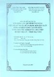 Báo cáo kết quả dự án: Xây dựng các Mô hình ứng dụng tiến bộ kỹ thuật để đa dạng hóa sản xuất nông nghiệp nâng cao đời sống vùng dân tộc Khme xã Long Hiệp, huyện Trà Cú, tỉnh Trà Vinh