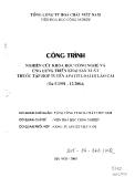 Nghiên cứu khoa học công nghệ và ứng dụng triển khai sản xuất thuốc tập hợp tuyền apatit loại 3 Lào Cai