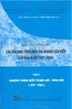 Báo cáo tổng kết chương trình điều tra nghiên cứu biển cấp nhà nước 1997 -2000 (tập 1)