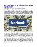 Facebook fan có giá trị thế nào với các doanh nghiệp nhỏ