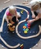 Thảm vải kiêm túi đựng đồ chơi tiện dụng cho bé