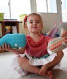 May cá voi nhồi bông đơn giản mà dễ thương cho bé
