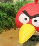 Ngộ nghĩnh chú chim Angry Bird nhồi bông mẹ làm cho bé