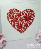 Giữ lửa yêu thương với tranh trái tim 3D thật đẹp