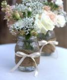 Biến lọ thủy tinh cũ thành lọ hoa đẹp lạ