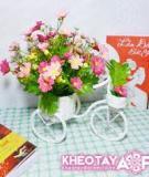 Làm đẹp nhà mình với xe đạp hoa đẹp rực rỡ