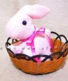 Thỏ bông xinh xắn mềm mại từ vải khăn mặt cho bé