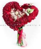 Bó hoa hình trái tim ngọt ngào tặng những người thân yêu