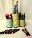 Biến lõi giấy cũ thành các ống đựng bút đẹp mắt