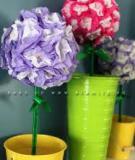 Biến túi nilon cũ thành các quả cầu hoa rực rỡ sắc màu