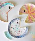 Trang trí nhà với đàn cá rực rỡ từ đĩa dùng một lần