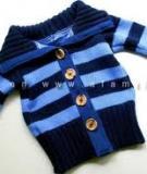 Biến áo len cũ của bố mẹ thành áo mới ấm áp cho bé