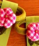Trang trí phụ kiện tóc với bông hoa vải cực xinh