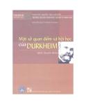 Ebook Một số quan điểm xã hội học của Durkheim